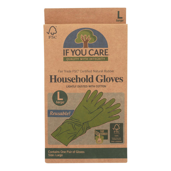 If You Care Household Gloves - Large - 1 Pair - Vita-Shoppe.com