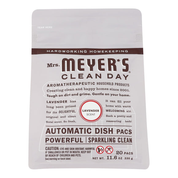 Mrs. Meyer's Clean Day - Automatic Dishwasher Packs - Lavender - 12.7 Oz - Vita-Shoppe.com