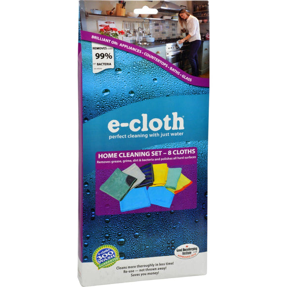 E-cloth Home Cleaning Set - 8 Piece Set - Vita-Shoppe.com