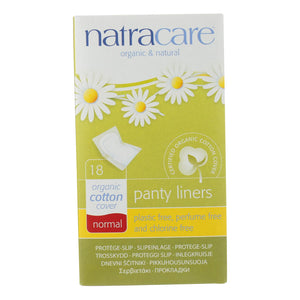 Natracare Panty Liner - Normal Wrapped - 18 Ct - Vita-Shoppe.com