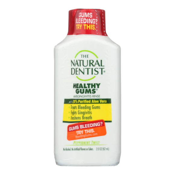 Natural Dentist Anti Gingivitis Rinse - Healthy Gums - Peppermint Twist - 2 Oz - Vita-Shoppe.com