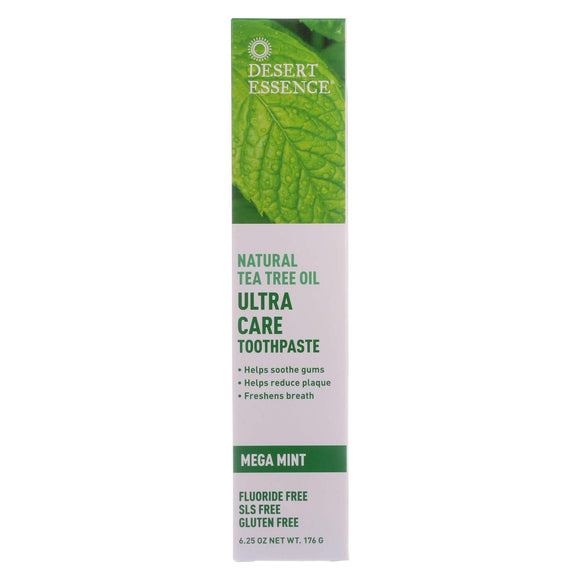 Desert Essence Toothpaste - Tea Tree U-care Mint - 6.25 Oz - Vita-Shoppe.com