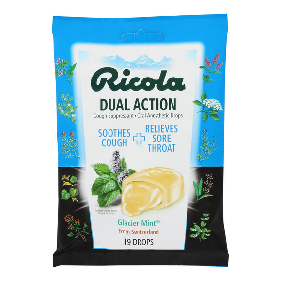 Ricola Cough Drop - Glacier Mint Extra Strength - 19 Ct - Case Of 12 - Vita-Shoppe.com