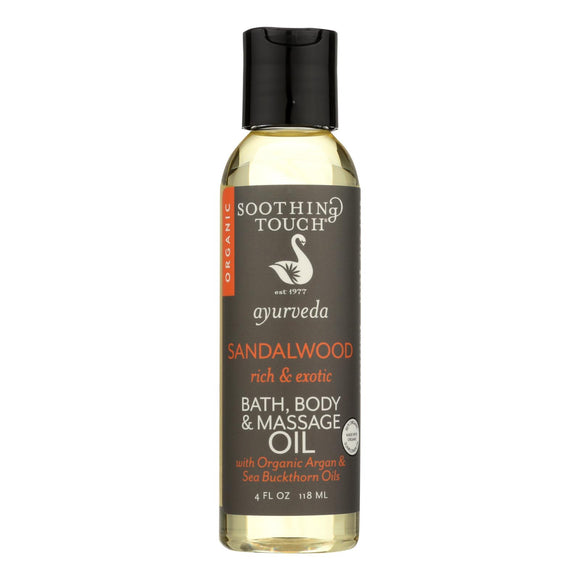 Soothing Touch Bath Body And Massage Oil - Ayurveda - Sandalwood - Rich And Exotic - 4 Oz - Vita-Shoppe.com