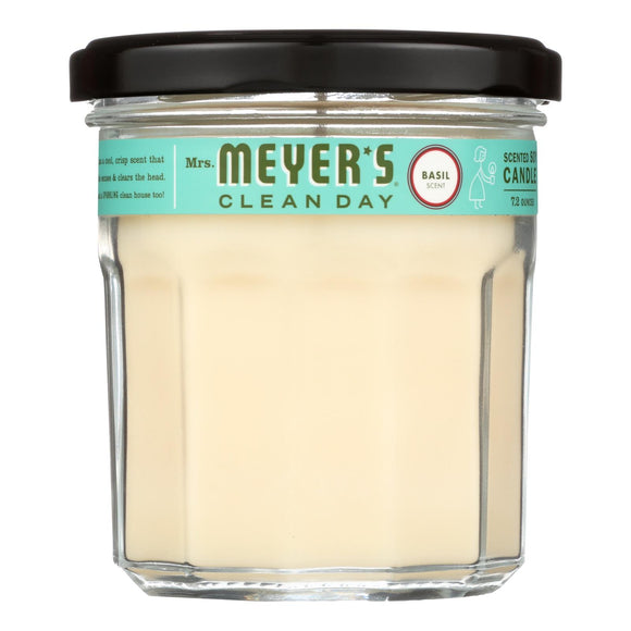 Mrs. Meyer's Clean Day - Soy Candle - Basil - 7.2 Oz - Case Of 6 - Vita-Shoppe.com