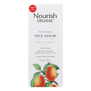 Nourish Organic Face Serum - Pure Hydrating Argan Apricot And Rosehip - .7 Oz - Vita-Shoppe.com