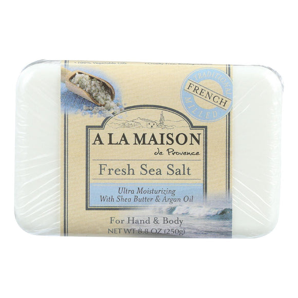 A La Maison Bar Soap - Fresh Sea Salt - 8.8 Oz - Vita-Shoppe.com