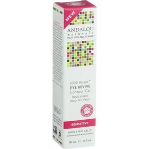 Andalou Naturals Eye Revive Contour Gel - 1000 Roses - .6 Oz - Vita-Shoppe.com