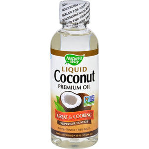 Nature's Way Liquid Coconut Oil - 10 Oz - Vita-Shoppe.com