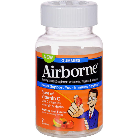 Airborne Vitamin C Gummies For Adults - Assorted Fruit Flavors - 21 Count - Vita-Shoppe.com