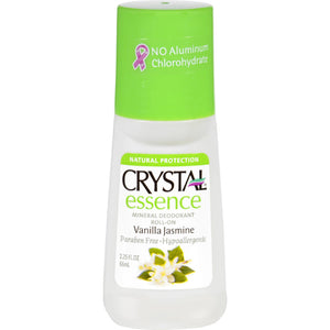 Crystal Deodorants Crystal Essence - Roll-on - Vanilla Jasmine - 2.25 Oz - Vita-Shoppe.com