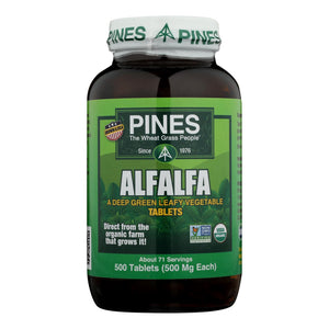 Pines International Alfalfa - Organic - Tablets - 500 Tablets - Vita-Shoppe.com