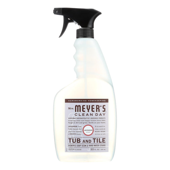 Mrs. Meyer's Clean Day - Tub And Tile Cleaner - Lavender - 33 Fl Oz - Case Of 6 - Vita-Shoppe.com
