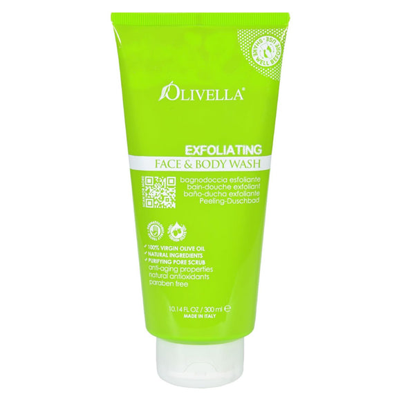Olivella Face And Body Wash - Exfoliating - 10.14 Fl Oz - Vita-Shoppe.com