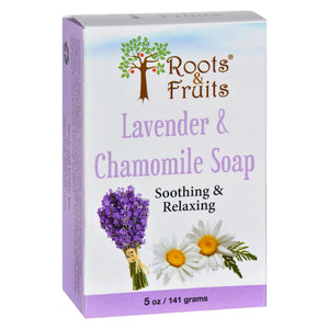 Roots And Fruits Bar Soap - Lavender And Chamomile - 5 Oz - Vita-Shoppe.com