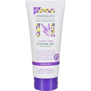 Andalou Naturals Shower Gel - Lavender Thyme Refreshing - 8.5 Fl Oz - Vita-Shoppe.com
