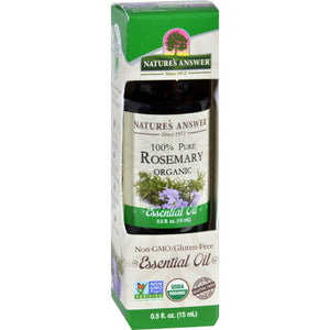 Natures Answer Essential Oil - Organic - Rosemary - .5 Oz - Vita-Shoppe.com