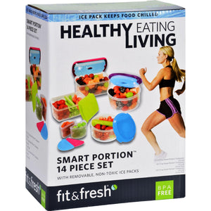 Fit And Fresh Container Set - Healthy Living - Smart Portion - 14 Pieces - 1 Set - Vita-Shoppe.com