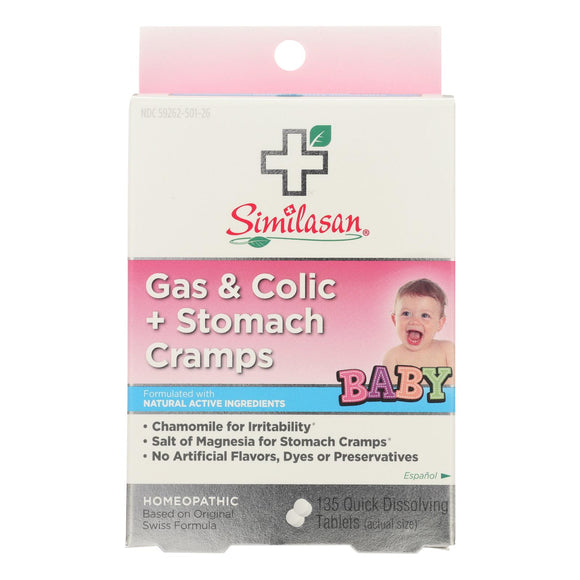 Similasan Baby Gas And Colic Plus Stomach Cramps - 135 Tablets - Vita-Shoppe.com