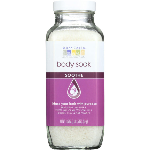 Aura Cacia Body Soak - Soothe - 18.5 Oz - 1 Each - Vita-Shoppe.com