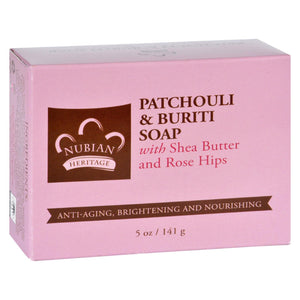Nubian Heritage Bar Soap - Patchouli And Buriti - 5 Oz - Vita-Shoppe.com