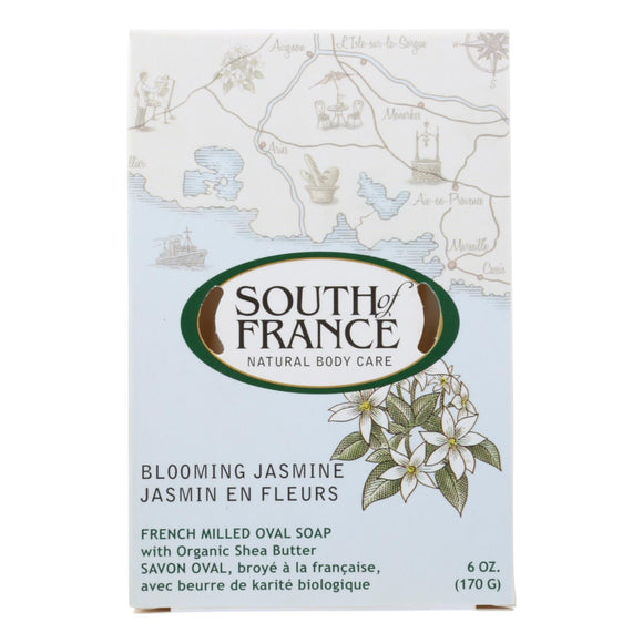 South Of France Bar Soap - Blooming Jasmine - 6 Oz - 1 Each - Vita-Shoppe.com