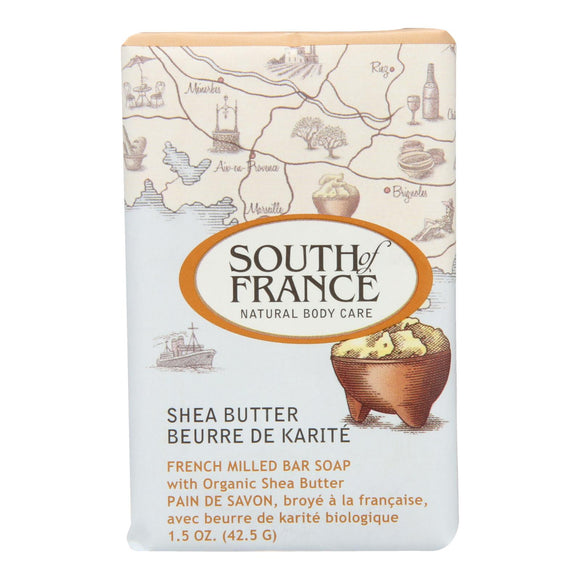 South Of France Bar Soap - Shea Butter - Travel - 1.5 Oz - Case Of 12 - Vita-Shoppe.com