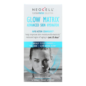 Neocell Laboratories Advanced Skin Hydrator - Glow Matrix - Platinum Matrix - 90 Capsules - Vita-Shoppe.com