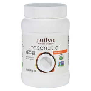 Nutiva Coconut Oil - Organic - Superfood - Refined - 15 Oz - Vita-Shoppe.com