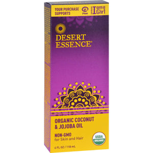 Desert Essence Coconut And Jojoba Oil - Organic - 4 Oz - Vita-Shoppe.com