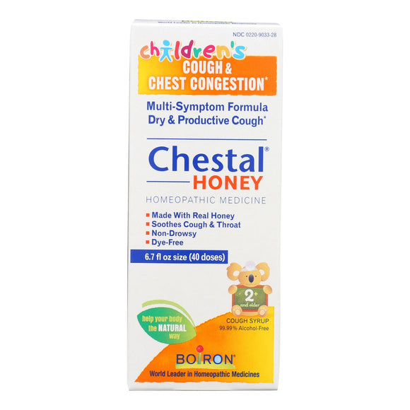 Boiron Chestal - Cough And Chest Congestion - Honey - Childrens - 6.7 Oz - Vita-Shoppe.com