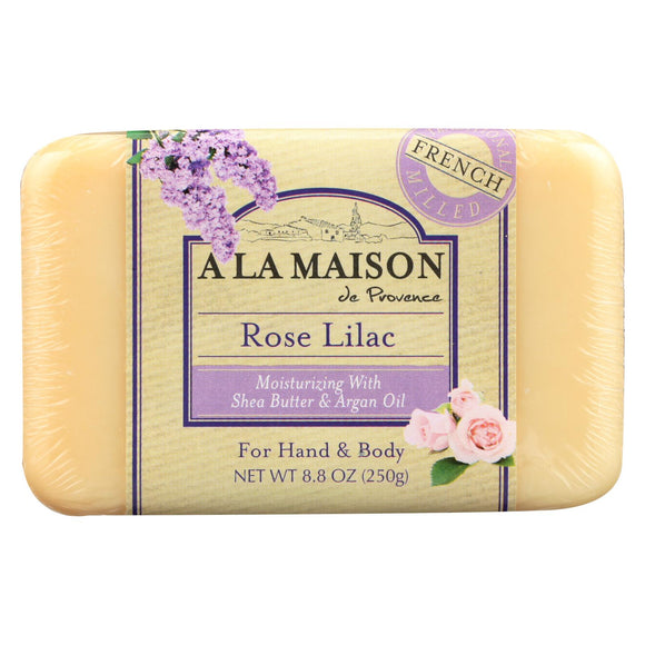 A La Maison Bar Soap - Rose Lilac - 8.8 Oz - Vita-Shoppe.com