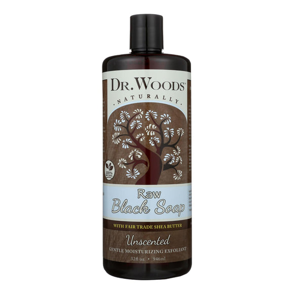 Dr. Woods Naturals Black Soap - Shea Vision - Unscented - 32 Oz - Vita-Shoppe.com