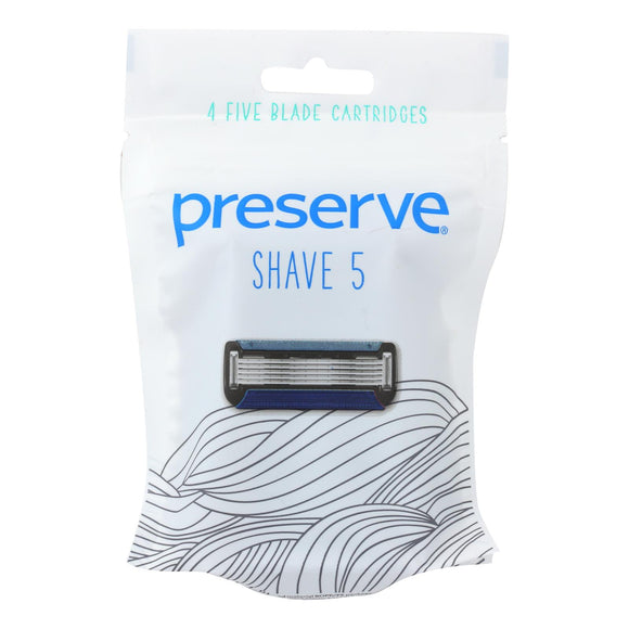 Preserve Shave 5 Replacement Blades - 4 Ct- 6 Packs - Vita-Shoppe.com
