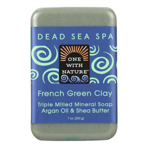 One With Nature French Clay Soap - French Green - Case Of 6 - 7 Oz. - Vita-Shoppe.com