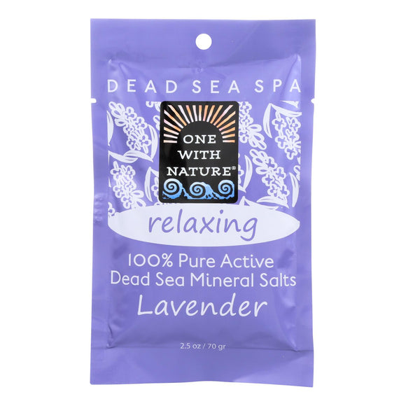 One With Nature Relaxing Lavender Dead Sea Mineral - Salt Bath - Case Of 6 - 2.5 Oz. - Vita-Shoppe.com