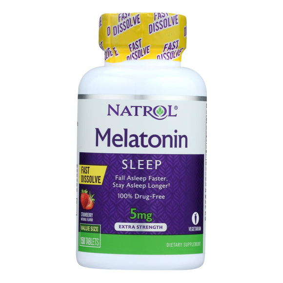 Natrol Melatonin Fast Dissolve Tablets - 5 Mg - 150 Count - Vita-Shoppe.com