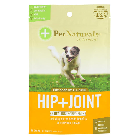Pet Naturals Of Vermont Hip + Joint Dog Chews  - 1 Each - 60 Ct - Vita-Shoppe.com