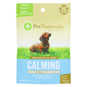 Pet Naturals Of Vermont Calming Dog Chews  - 1 Each - 30 Ct - Vita-Shoppe.com