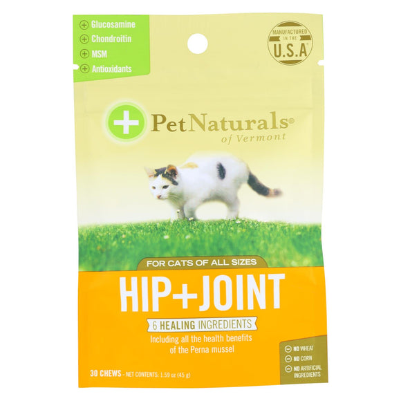 Pet Naturals Of Vermont Hip + Joint Supplement For Cats Of All Sizes  - 1 Each - 30 Ct - Vita-Shoppe.com