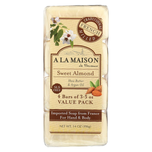 A La Maison Bar Soap - Sweet Almond - 4-3.5 Oz - Vita-Shoppe.com