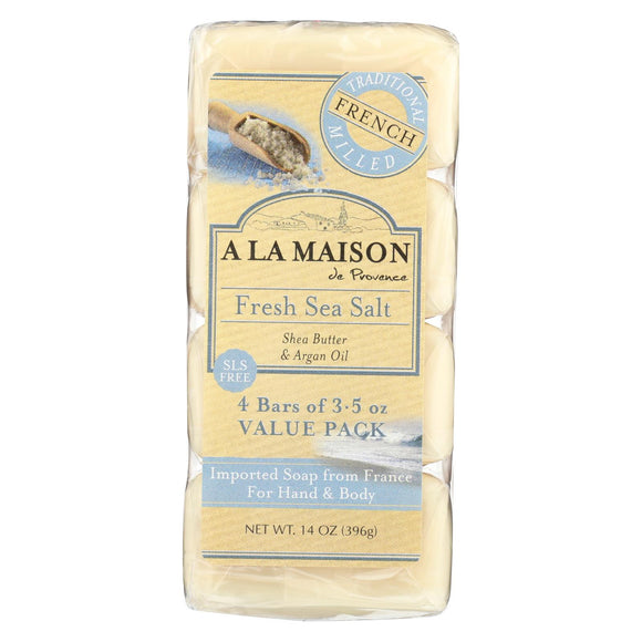 A La Maison Bar Soap - Fresh Sea Salt - 4-3.5 Oz - Vita-Shoppe.com