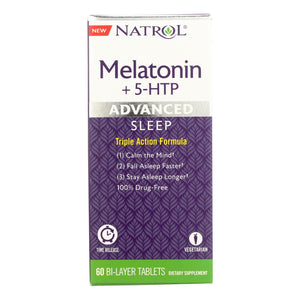 Natrol - Melatonin Advance +5 Htp - 1 Each - 60 Tab - Vita-Shoppe.com