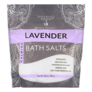 Soothing Touch Bath Salts - Lavender Calming - 32 Oz - Vita-Shoppe.com
