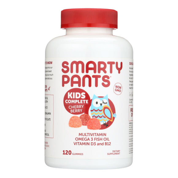 Smartypants Gummy Vitamin - Kids Complete - Cherry - 120 Count - Vita-Shoppe.com