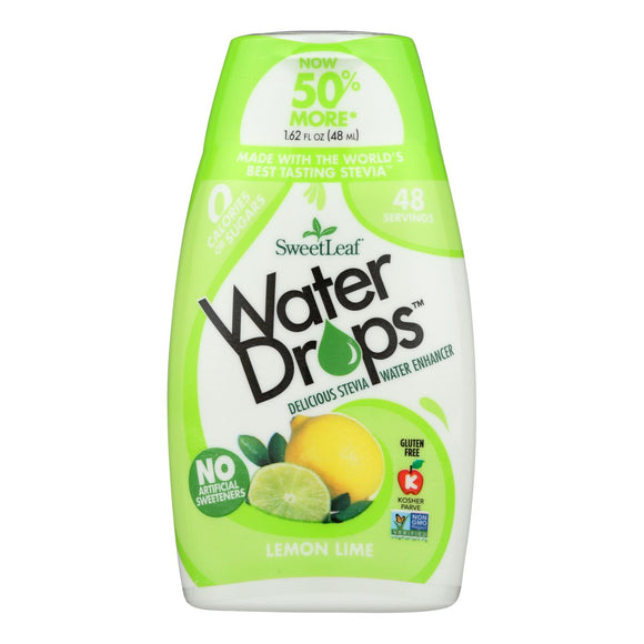 Sweet Leaf Water Drops - Lemon Lime - 1.62 Fl Oz - Vita-Shoppe.com