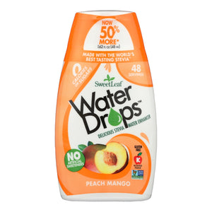 Sweet Leaf Water Drops - Peach Mango - 1.62 Fl Oz - Vita-Shoppe.com