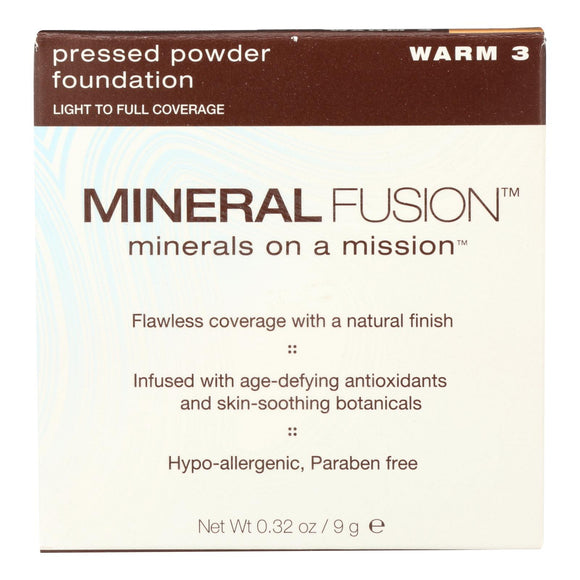 Mineral Fusion - Pressed Powder Foundation - Warm 3 - 0.32 Oz. - Vita-Shoppe.com