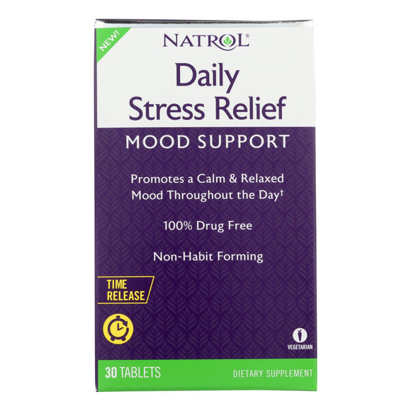 Natrol - Daily Stress Mood Support - 1 Each - 30 Tab - Vita-Shoppe.com