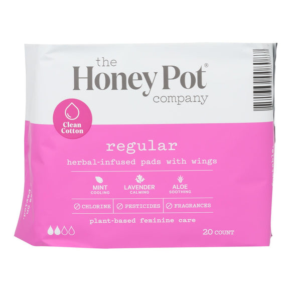The Honey Pot - Herbal Regular Pads - 1 Each - 20 Ct - Vita-Shoppe.com